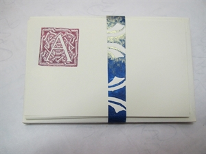 Picture of Set of initialed note-cards (classic)