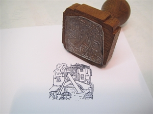 Picture of Rubber capital letter stamp (Venetian)