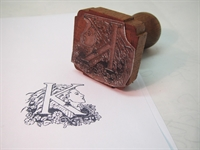Picture of Rubber capital letter stamp (Art Deco)